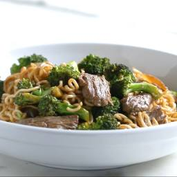 20-Minute Beef And Broccoli Noodle Stir-Fry