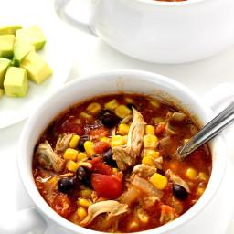 20-Minute Chicken Enchilada Soup Recipe