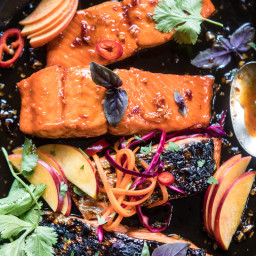 20 Minute Crispy Honey Ginger Salmon