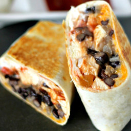 20 Minute Healthy Chicken Burritos