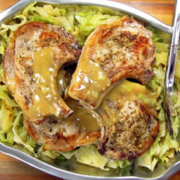 20-minute Pressure Cooker Pork Chops and Cabbage