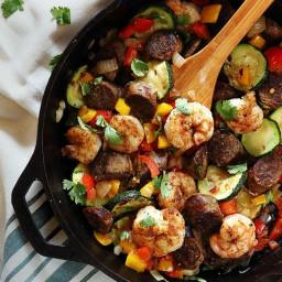 20-Minute Shrimp & Sausage Skillet