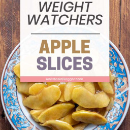 20-minute Weight Watchers Dessert – Apple Slices Roasted in the Oven