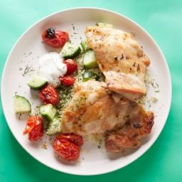 20-Minute Chicken Thighs and Couscous with Dill