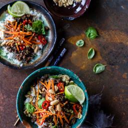 20 Minute Thai Basil Beef and Lemongrass Rice Bowls.
