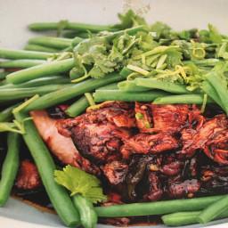 Asian slow roasted lamb (with green bean gremolata)