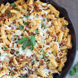 25-Minute Skillet Meat and Cheese Pasta