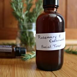 3 Ingredient DIY Rosemary Cedarwood Facial Toner