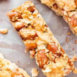 3 Ingredient Homemade KIND Coconut Almond Bar Recipe (Paleo, Vegan, Gluten