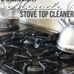 3 Ingredient Miracle Stove Top Cleaner