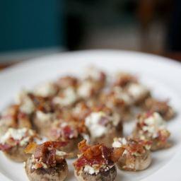3-Ingredient Bacon Stuffed Mushrooms