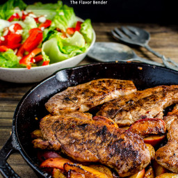 30-Minute, 5-Spice Pan Fried Pork and Peaches