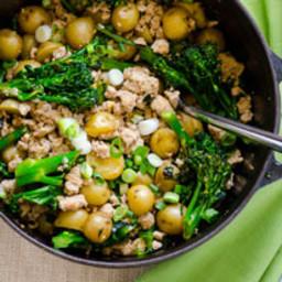 30 Minute Broccolini, Turkey and Baby Potatoes