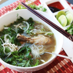 30-Minute Pressure Cooker Pho Ga (Vietnamese Chicken Noodle Soup)
