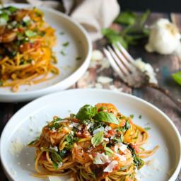 30 Minute Shrimp Pasta Primavera with Zoodles