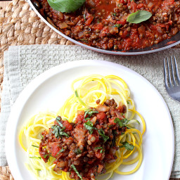 30 Minute Spicy Lentil Bolognese {Vegan, Gluten Free, Grain Free, Dairy Fre