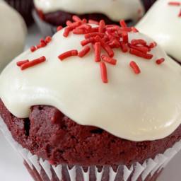 30 Minute Vegan Red Velvet Cupcakes with Vegan Cream Cheese Frosting