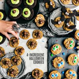 4 Easy Halloween Cookies [4-ingredients]