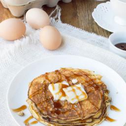 4 Ingredient Flourless Vanilla Ricotta Pancakes