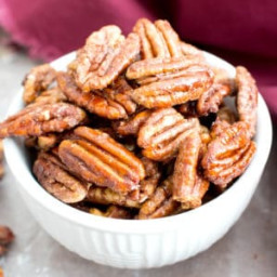 4 Ingredient Oven-Roasted Paleo Candied Pecans (Vegan, Gluten-Free, Dairy-F