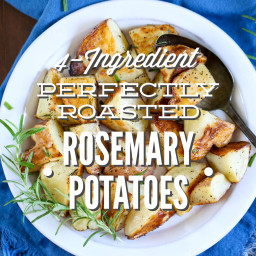 4-Ingredient Perfectly Roasted Rosemary Potatoes