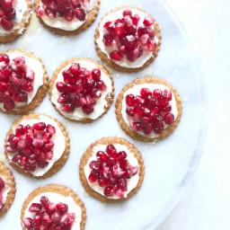 4 Ingredient Spiced Pomegranate Cookie Bites