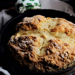 4 Ingredient Traditional Irish Soda Bread with Gluten and Dairy Free Option