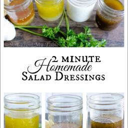 4 Jam Jar salad dressing recipes {in two minutes}