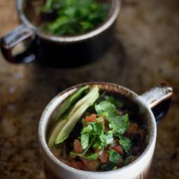 5-ingredient Black Bean and Salsa Soup