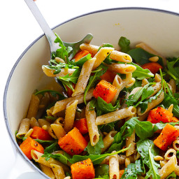 5-Ingredient Butternut Squash, Arugula and Goat Cheese Pasta