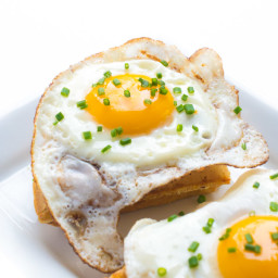 5-Ingredient Cheddar and Chive Waffles with a Fried Egg