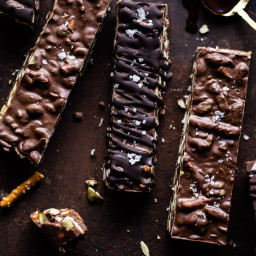 5 Ingredient Crockpot Chocolate Bars