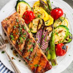 5 Ingredient Marinated Grilled Salmon