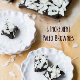 5 Ingredient Paleo Brownies