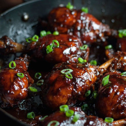 5 Ingredient Sticky Stove Top Balsamic Chicken