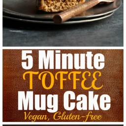 5 Minute Toffee Mug Cake (Vegan and Gluten-Free)