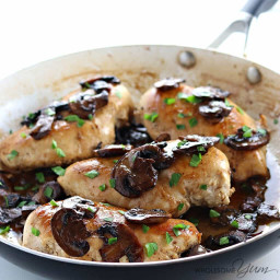 6-Ingredient Easy Low Carb Chicken Marsala (Paleo, Gluten-free)