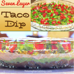 7 Layer Taco Dip Recipe (Healthified!)