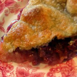 A Simple Rhubarb Pie