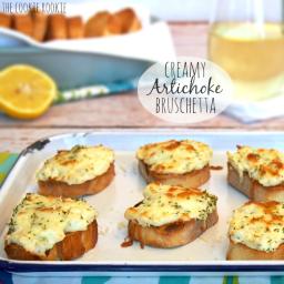 Creamy Artichoke Bruschetta