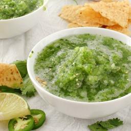 Abuelo's Copycat Tomatillo Lime Salsa