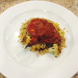 Achiote Chicken with Salad of Curried Cauliflower Couscous