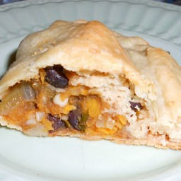 Acorn Squash and Black Bean Empanadas