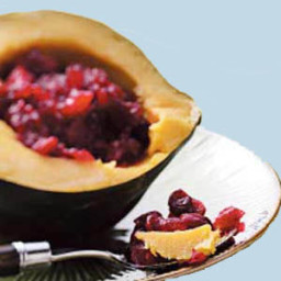 Acorn Squash with Cranberry Stuffing
