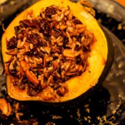 Acorn Squash with Wild Rice Pilaf