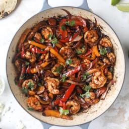 Adobo Shrimp Fajitas.