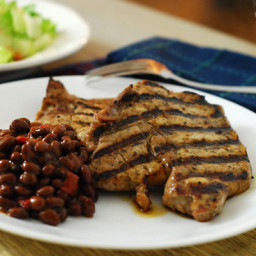 Agave Mustard Grilled Pork Chops
