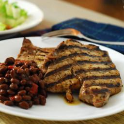 Agave Mustard Grilled Pork Chops