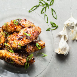Air Fried Honey-Garlic Chicken Wings Recipe