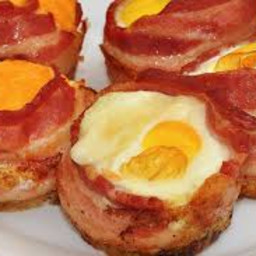 Air Fryer Egg and Bacon Cups